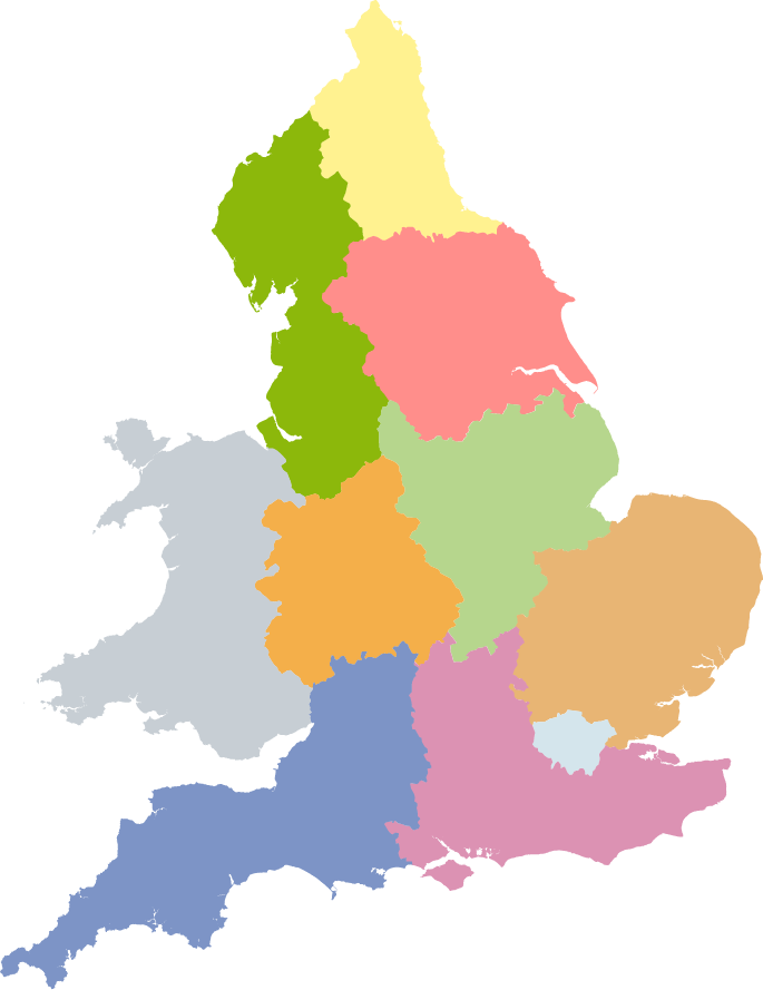 Regional map of the UK. Click to choose a region.